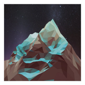 Night Mountains No. 2.jpg Poster