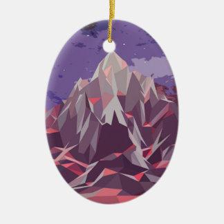 Night Mountains No. 3.jpg Ceramic Oval Decoration