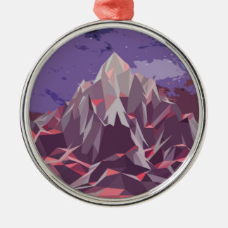 Night Mountains No. 3.jpg Silver-Colored Round Decoration