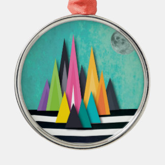 Night Mountains No. 4.jpg Christmas Ornament