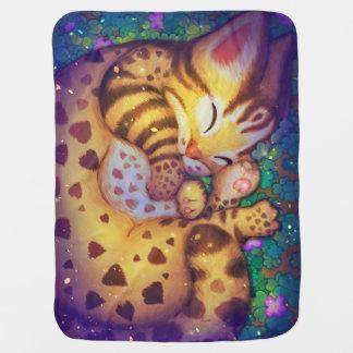 night night Leopard cat Baby Blanket