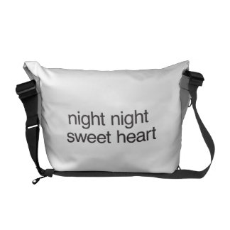 night night sweet heart messenger bag