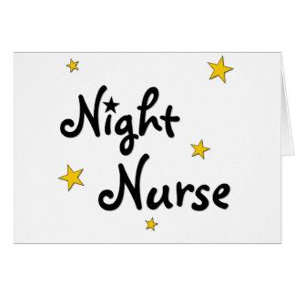 Night Nurse Greeting Card