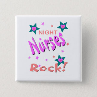 Night Nurses Rock 15 Cm Square Badge