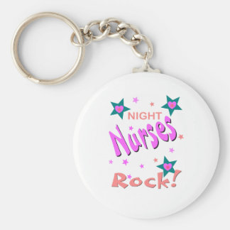 Night Nurses Rock Basic Round Button Key Ring