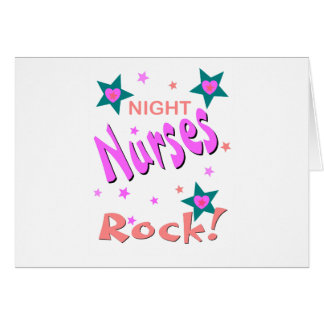 Night Nurses Rock Greeting Card