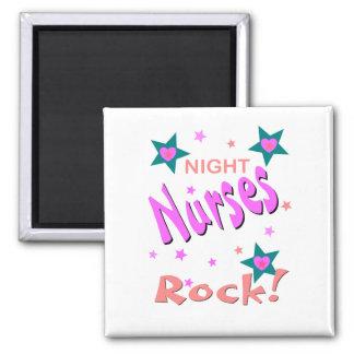 Night Nurses Rock Square Magnet