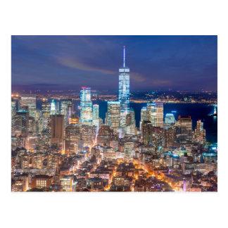 Night of Manhattan Postcard