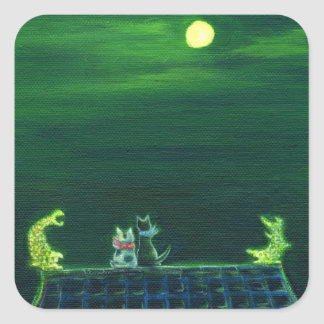 Night of shiyachihoko square sticker