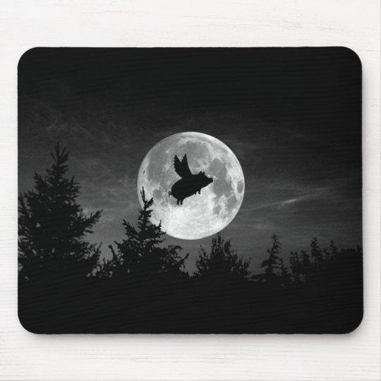 night of the flying pig mousepad