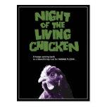 NIGHT Of The LIVING CHICKEN Postcard
