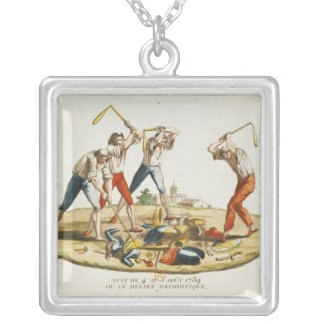 Night of the Patriotic Delirium Silver Plated Necklace
