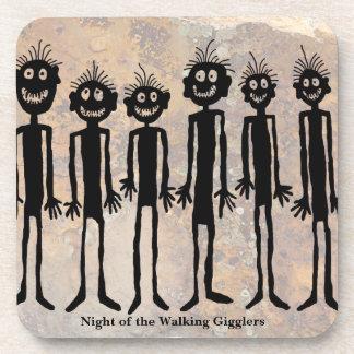 Night of the Walking Gigglers Petroglyph Coaster