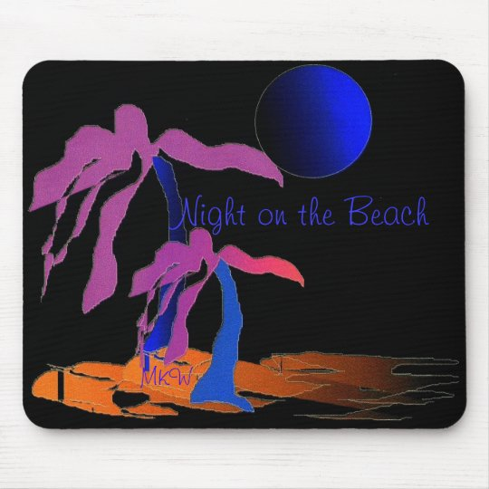 Night on the Beach Mouse Mat