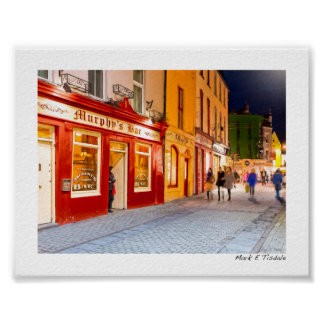 Night Out At The Pubs In Galway Ireland - Mini Poster