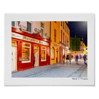 Night Out At The Pubs In Galway Ireland - Small Poster