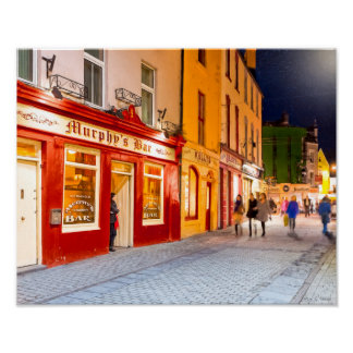 Night Out At The Pubs In Ireland - 11x14 Archival Poster