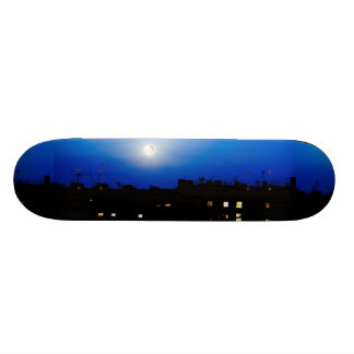 Night over London buildings with moon Skateboards
