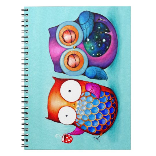 Night Owl and Morning Owl Cuties Notebooks