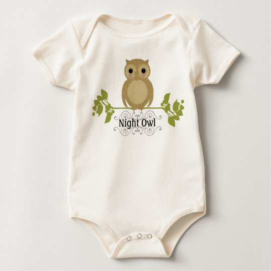 Night Owl Baby Baby Bodysuit