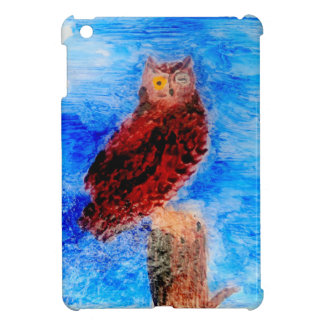 Night Owl Bird Art iPad Mini Cover
