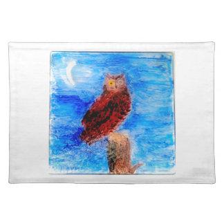 Night Owl Bird Art Placemat