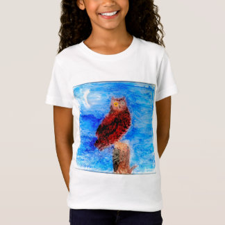 Night Owl Bird Art T-Shirt