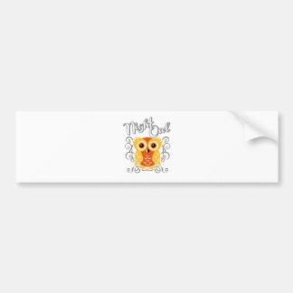 Night Owl Car Bumper Sticker