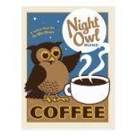 Night Owl Coffee Postcard