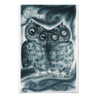 Night Owl Love Photo Print