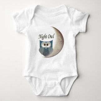Night Owl on the Moon Art Clothing Baby Bodysuit