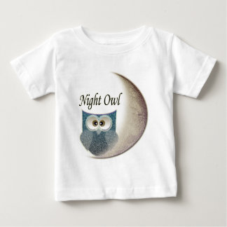 Night Owl on the Moon Art Clothing Baby T-Shirt