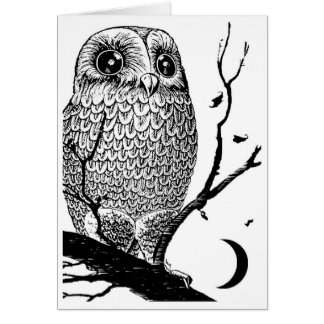 """""""NIGHT OWL"""" ORIGINAL GRAPHIC DESIGN by Artchiver Card"""