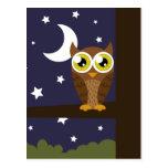 """Night Owl"" Postcard"