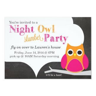 Night Owl Slumber Party 13 Cm X 18 Cm Invitation Card