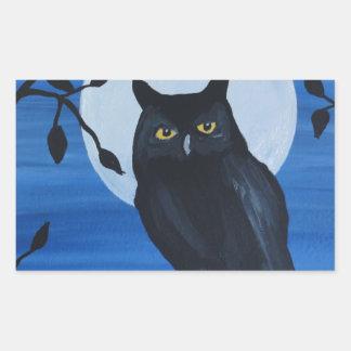 Night Owl Rectangular Stickers