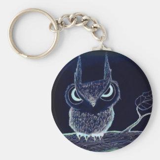 Night Owl with Attitude-  Keychain