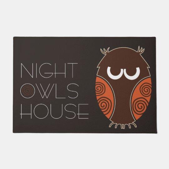 Night Owls House Doormat