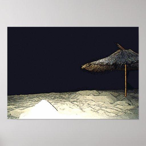 Night Parasol Poster