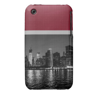 Night Photo of the New York City Skyline Landscape iPhone 3 Case-Mate Cases