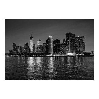 Night Photo of the New York City Skyline Landscape
