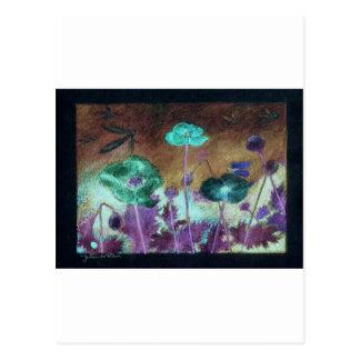 night poppies postcard