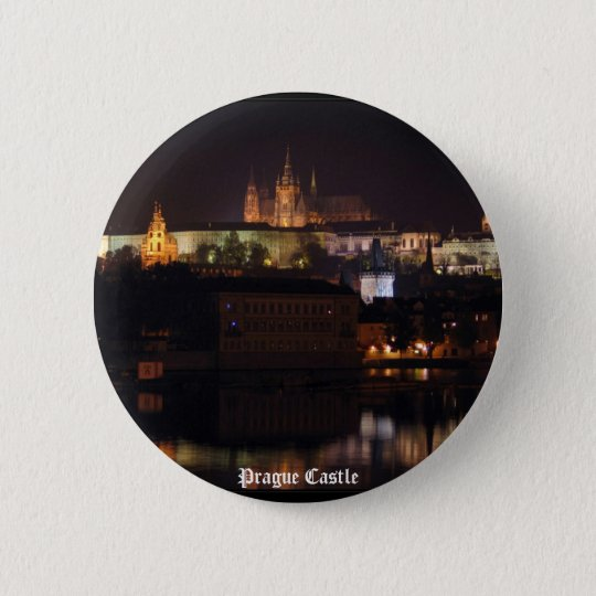 Night Prague Castle Button