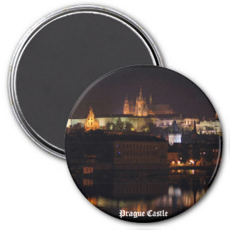 Night Prague Castle Magnet