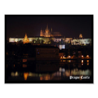 Night Prague Castle Print