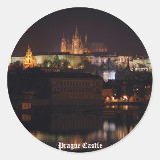 Night Prague Castle Sticker