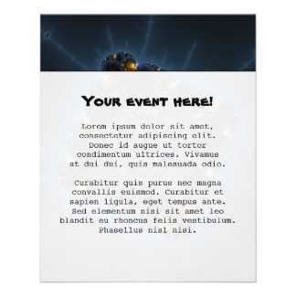 Night Prowler Fractal Art Personalized Flyer