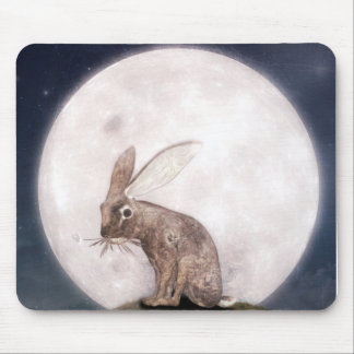 Night Rabbit Mouse Mat