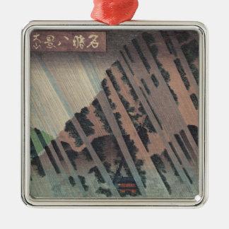 Night Rain on Oyama, c.1830 Christmas Ornament
