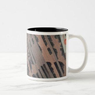 Night Rain on Oyama, c.1830 Two-Tone Coffee Mug
